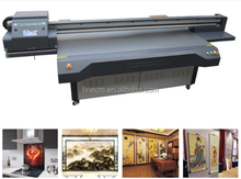 Professional Large format Ceiling Art Glass/Frameless draw printing, digital UV Flatbed printer manufacturer for printing