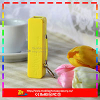 2013 new best products for import portable power bank 2600mah plastic