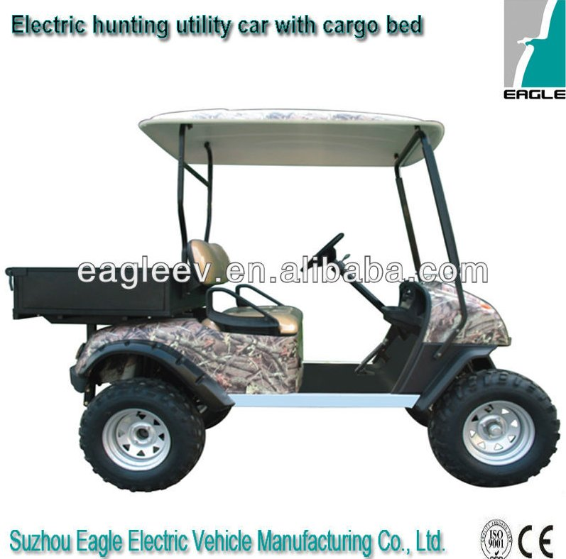 Electric hunting vehicle,2 seats with cargo bed, off road, CE approved