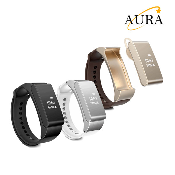 Aura M08 new model smart bracelet combination with a bluetooth headset