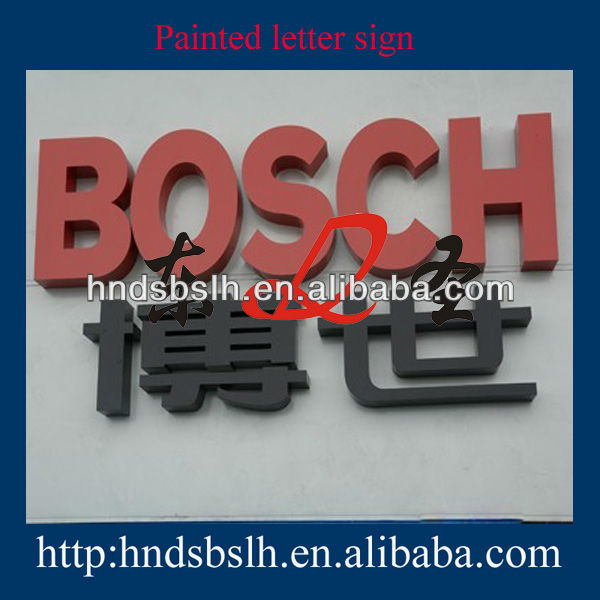 Hign quality Decorative titanium letters and metal alphabet letters
