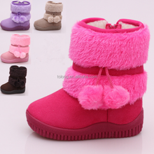 Kids Winter Long Snow Boots Wholesale Bulk School Shoes for Girls