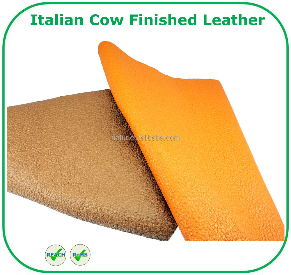 High Quality Italian Vegetable Tanned Cow Finished Leather