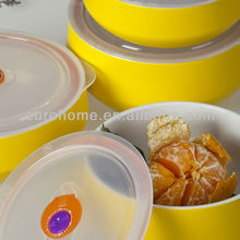 colorful porcelain food container, food stock