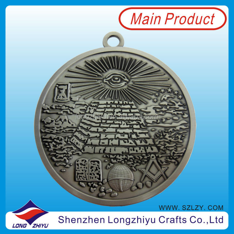 Custom antique nickle plated old islamic coins,metal embossed logo medal coins maker in China