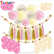 Wholesale Tissue paper pom poms birthday party favors paper flower balls for wedding party decorations