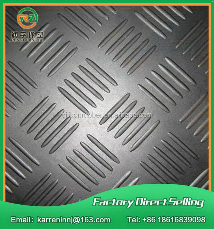 Factory wholesale crazy selling anti slip textured silicone rubber sheet