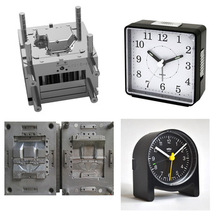 mould / mold small alarm clock / square plastic shell / cover mould , plastic parts sample injection mold customization