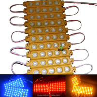 Waterproof led sign light 5leds warm white pink yellow injection full color led module for light box