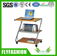 Removable low price Office portable computer desk with wheels