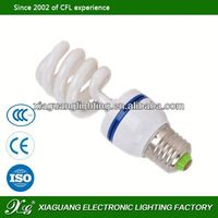 2013 new products high quality and low price half spiral energy saver lamp