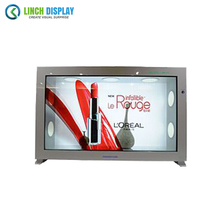 Multi Media 32 inch 3G 4G WIFI Transparent LCD Monitor Display for Restaurant Hotel