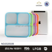 Japanese Microwavable and Leakproof Bento Lunch Box with 3 Sections