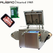 Manual MAP Tray Vacuum sealer, modified atmosphere vacuum sealing machine with gas filling