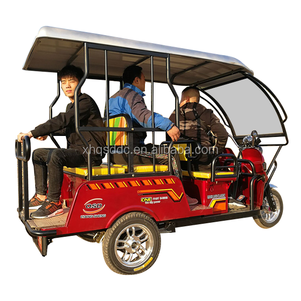 New energy back to back seat electirc tricycle from China