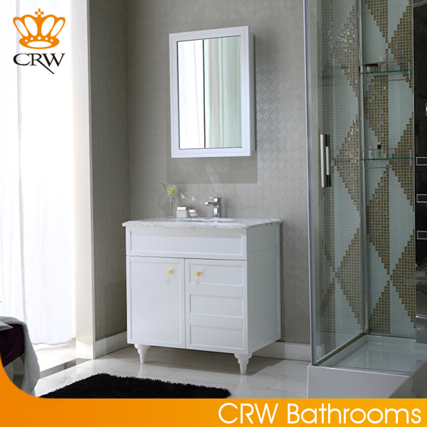 CRW OP8007 Thin Chinese Bathroom Vanity with One Faucet