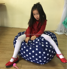 Stuffed Animal Storage Bean Bag Chair - Premium Seat - Easy Solution for Extra Toys / Blankets / Covers / Towels / Clothes