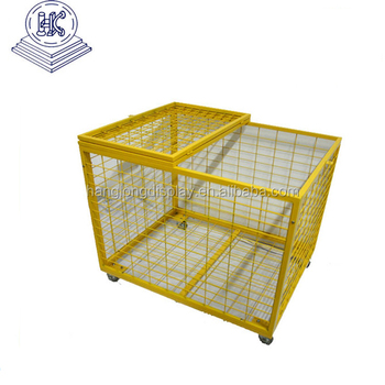 Warehouse wire cage ball cage