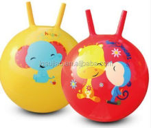 Space hopper ball with two sticks plastic bouncer jumping ball