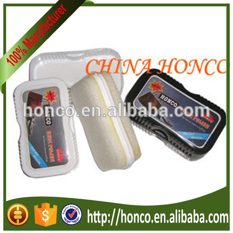Promotionl double side shoe shine sponge
