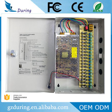 High quality CE ROHS FCC certificated 12V 10A 120W 18ch CCTV camera switching power supply with 18 channels