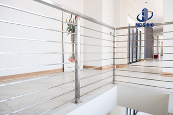Beau Stainless Steel Stair Position Railings With Cross Bar Holder