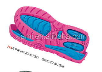 high sale colorful flat sport shoes rubber polyurethane sole