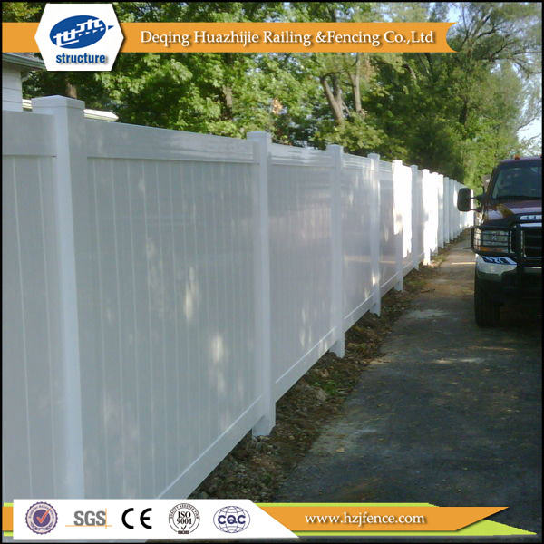 2017 hot new designs Plastic pvc vinyl fence
