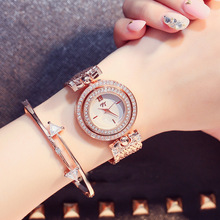 2017 Fashion Women Men Rhinestones Quartz Wrist Watches with Alloy Band