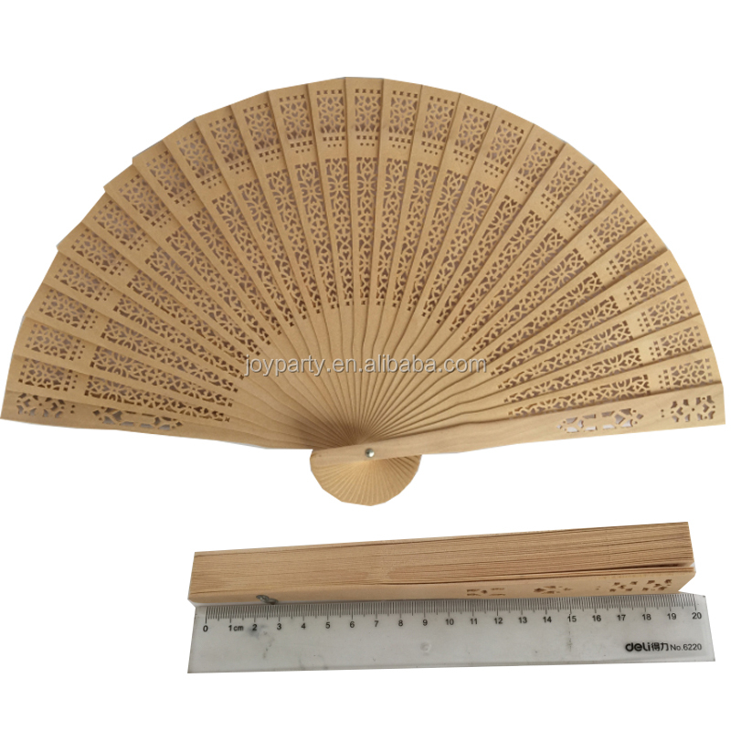 Wedding favors Chinese carved folding fragrance <strong>wood</strong> hand fan