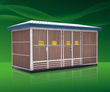 YBW outdoor box-type 12KV electrical compact substation equipment/combined transformer substation