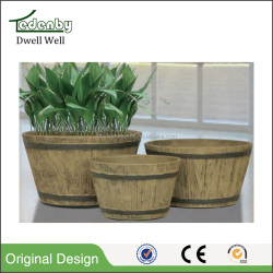 light gray wood pots garden for decor
