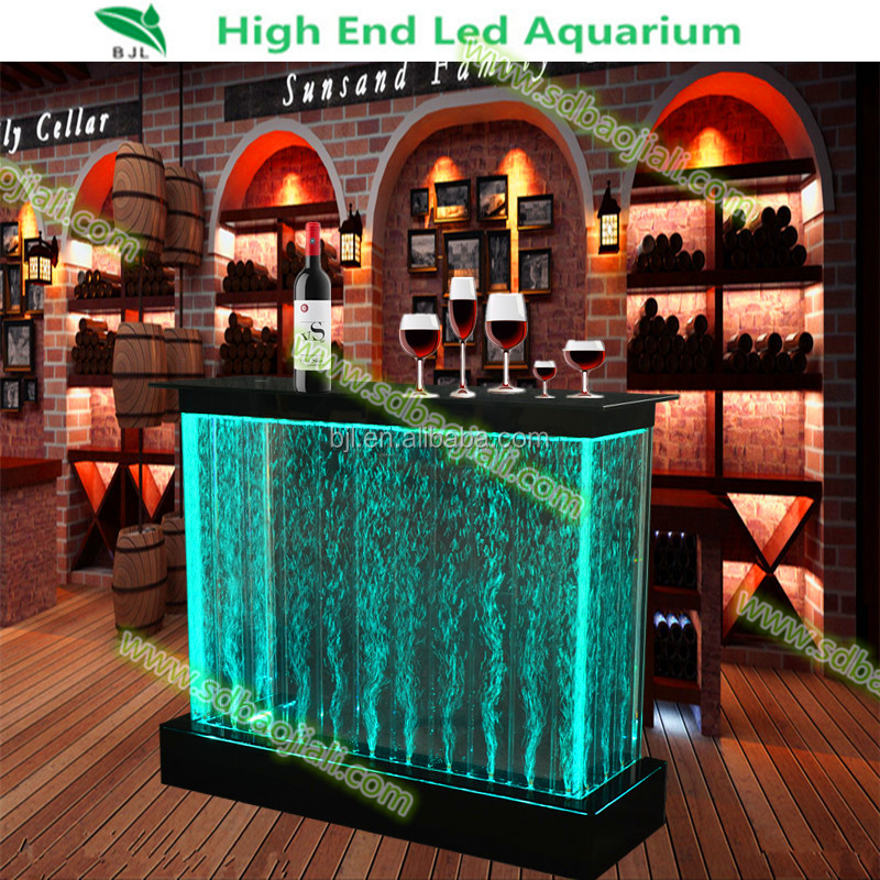 remote control rgb color led bar furniture,plastic illuminated led wine bar counter