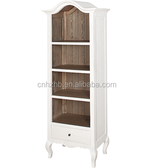 french style furniture modern white+wood color bookcase