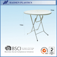 Hot sale white PP plastic round table for outdoor use