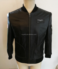 Mens Leather Apparel Real Sheep Black Mens Leather Jacket