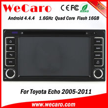 Ultra HD Quad Core android car dvd stereo with 3g For Toyota Echo 2006 GPS navigator TV Radio tuner CD Player