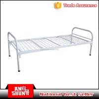Outdoor camping portable folding cot simple steel single mesh strong cot
