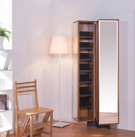 Stylish france elegant furniture wooden shoe storage cabinet with mirror
