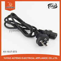 SAA approval Australia standard plug power cord for hair dryer/rice cooker/electric grill