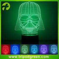 star wars project visual illusion light 3D led night lights,custom 3D led night lights for indoor decoration