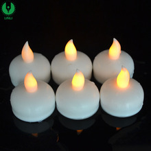 2015 New Desigh Colorful Floating Waterproof Light LED Candle