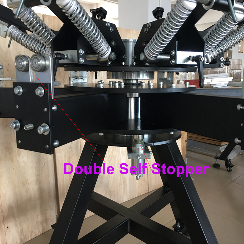 Uniform double clamps system to keep the frame steady t-shirt screen press printing machine