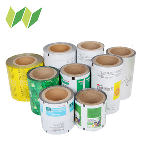 Plastic film roll for medicine and food packaging