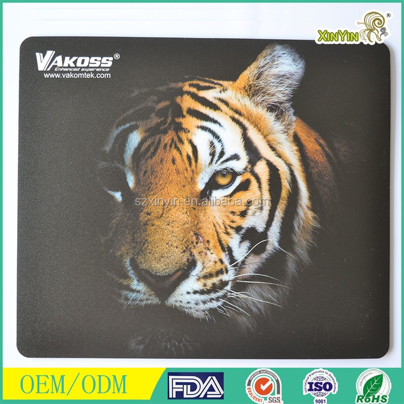 Tiger Face Anti-Slip Computer Mouse Pad Mousepad for Optical Laser Mouse
