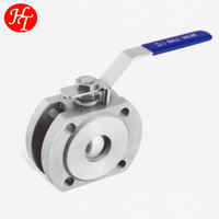 Free sample China 1PC wafer ss flanged type ball valve price
