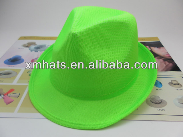 logo printing cheap PP fedora hat for promotion