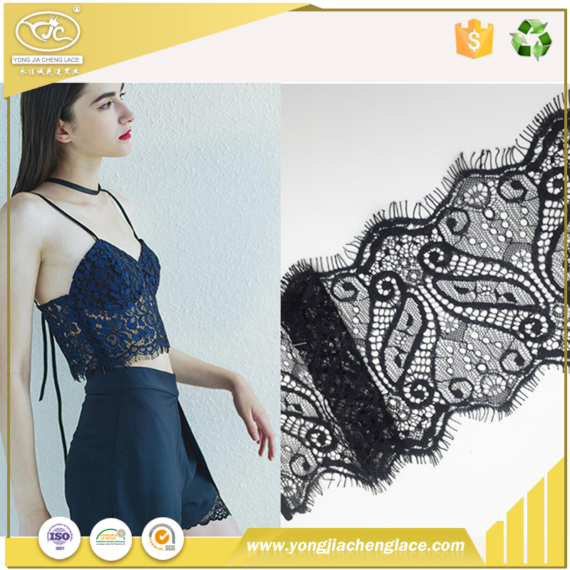 YJC african guipure chemical 100 cotton sequin saree net textile lace fabric