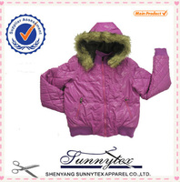 SUNNYTEX 2015 OEM Fancy Winter Garment Outdoor Children Down Jacket