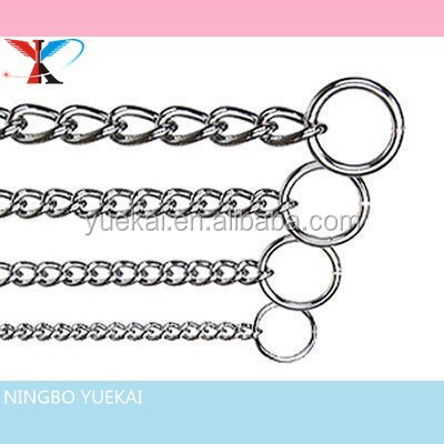 DOG CHOKE CHAIN METAL SILVER FULL RANGE OF SIZES